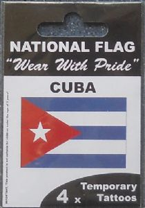 Cuba Country Flag Tattoos.